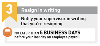 Resign in Writing